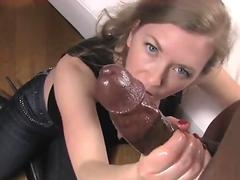 white milf finishing off bbc