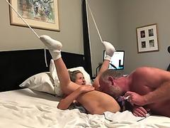 Free FTM transguy gets fucked missionary style by huge bareback dick POV
