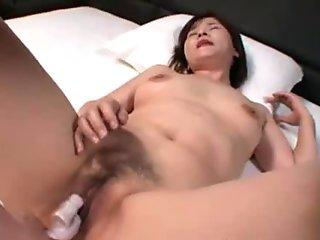 Chiho Fujii JAV Mother Pussy Filled With Sperm