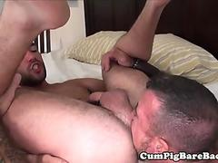 Young otter wanking while unsaddled