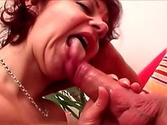 Lusty momma Alexis Golden receives a hot explosion of cock sauce on her mouth