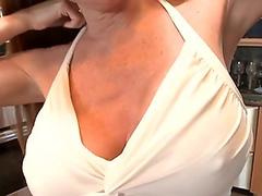 Milf fucks cock with jugs