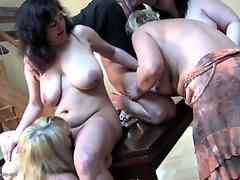 Blonde and brunette beauties make love