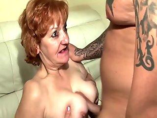 European escort throater takes cum in mouth