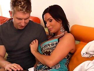 Hot shemale anal sex with cumshot
