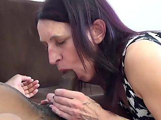 69 years old mom first interracial