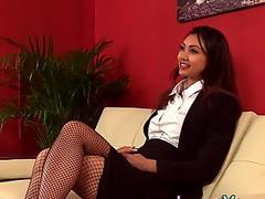 Asian cfnm mistress laughs at loser
