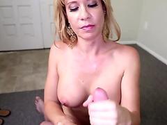 Gorgeous MILF loves stroking POV cock