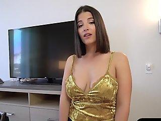 Sexy Young Slut Abelinda Gets Too Hawt To Handle Exposed On The Floor