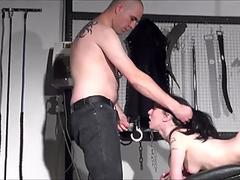 fledgling spanking of Faye Corbin in oral job lashing and red bottom punished