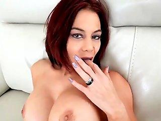 StepBrother walks in on step sister with big tits and fucks her tight pussy