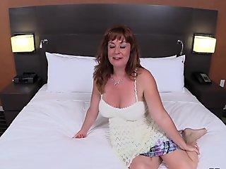 Beautiful Redhead mummy nails fat Cock POV