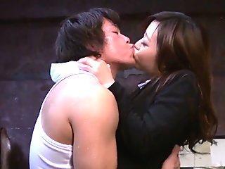 Shiona Suzumori removes undies to try cock in her snatch
