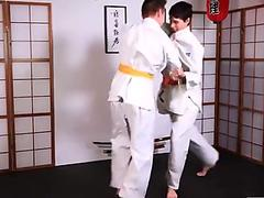 Two young judokas Enzo Lemercier &amp_ Timy Detours fucking on the tatami