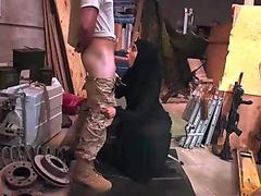 Muslim gilf sucking soldiers dick