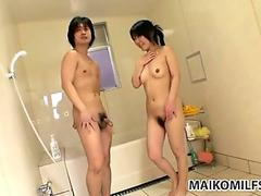 Hot shower makes Japanese babe Yuka Imai too sexited