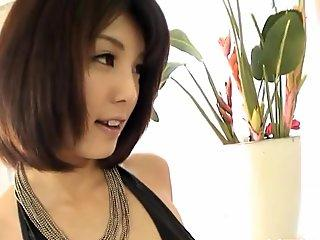 Electrifying Asian cowgirl riding