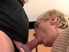 Bbvideo.com Short haired German granny fucks