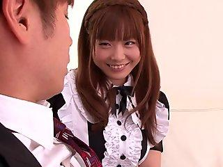 Nippon maid uniform babe fucked and jizzed