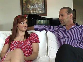 Hot young wife shows her neighbor her ass- big cock explode-scream orgasm
