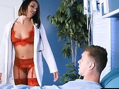 Sexy nurse wants fevered up patients cock in her ass
