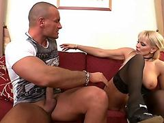 Hard anal lessons for one cute mature lady