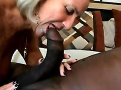 Cum thirsty Miya Monroe works a beefy tube with moist mouth until it pops