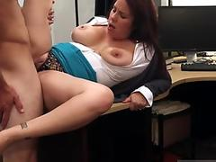 Chick plays with dildo