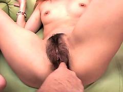 Slutty ass Asian sluts sucking on the hairy bear