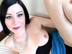 Cuties sucking large dicks