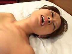 Beautiful Oriental bent over and fucked hard