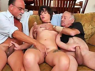 Dirty MILFs play with each other pussies