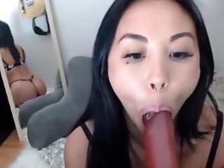 luxurious asian teasing angel Luna with pierced nips
