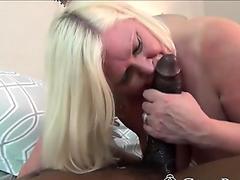 Black stallion likes the way this BBW granny sucks