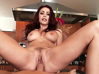 Busty wife Monique Alexander rides her husband's dick in POV