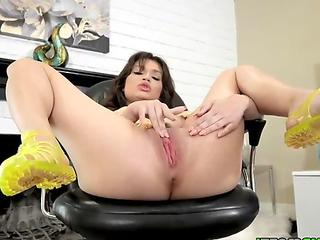 Liv Wild bends over to expose her pussy and lets the lucky stud slam her until he cums on her ass