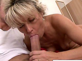 Girls Out West - Busty mummy playthings her vag