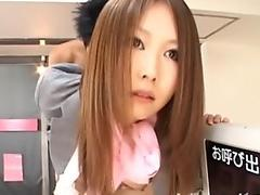 Sweet Japanese honey Hikaru Wakabayashi with a pussy full of hot jizz cream.