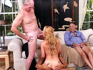 Big tit grandma Frannkie And The Gang Tag Team A Door To Door Saleswoman