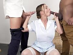 Private Black - Hot Taylor Sands Gets Anal Banged By 2 Hard B&W Studs!