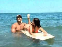 Tiny latina teen babe gets fucked on beach 02