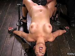 Hot ass Asian in doggy device gets bastinado - Jezebelle Bond