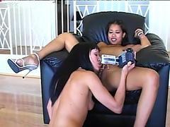 Kinky Cytherea & Lily Thai are the slutty pussy voracious nymphos