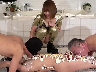 Japanese Femdom Maria Food and Messy