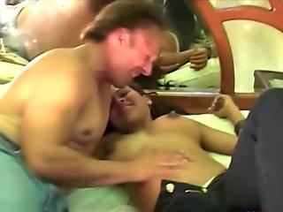 Pregnant chick gets her titties sucked by horny husband who drills her hard