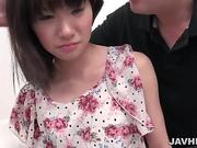 Awesome Rikako bounces her cunt on a huge dick