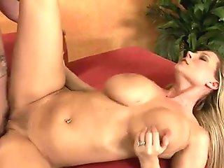 Curvy and buxom blonde Devon Lee gets her snatch pounded hard