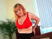 Redheaded grannies in lust fuck a dildo