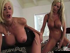 Busty Blonde Duo Nikki Benz &amp_ Puma Swede Dildo Bang Pussies!