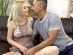 LustyGrandmas Busty Mature's Face is Covered with Cum